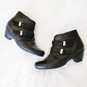 Taos Alto Black Leather Booties Boots